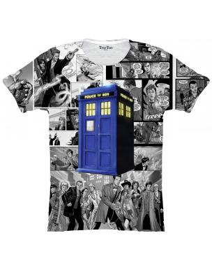 T SHIRT HOMME DOCTOR WHO COMICS **