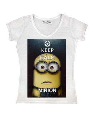 tee shirt keep calm minions